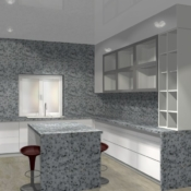 Кухня Акрилайн стойка