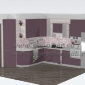 Кухня глянец пластик