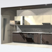 Кухня модерн в пленке